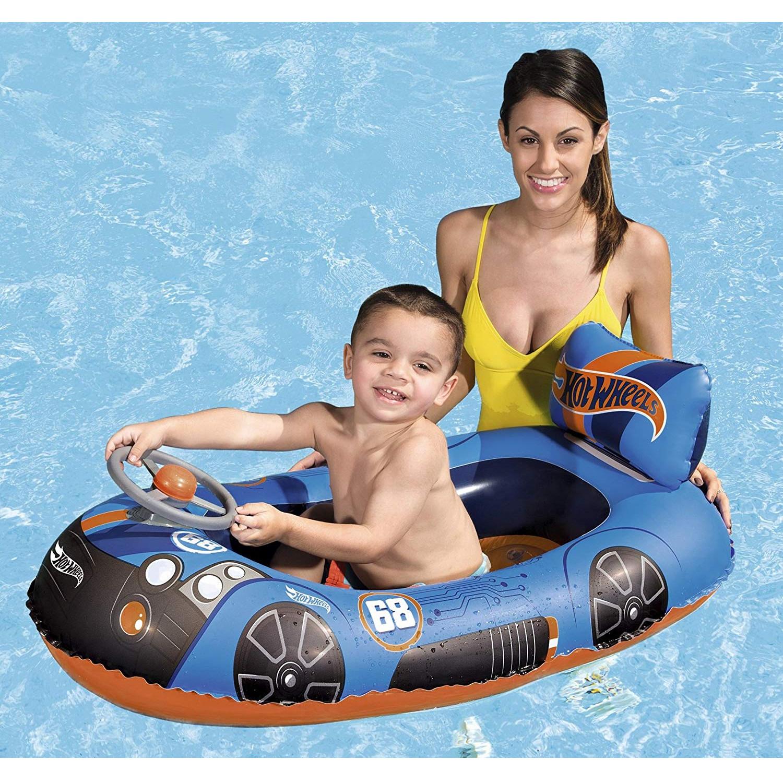 6819ef3849a store.bg - Надуваема детска лодка - Hot Wheels - С дължина 112 cm