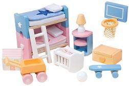 c7e9a88589a store.bg - Детска стая - Комплект детски дървени мебели за куклена ...