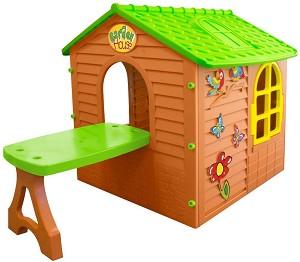 00f70b21d9d store.bg - Детска сглобяема къща за игра с маса - 🐻 играчка