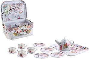 d9021741a6b store.bg - Метален сервиз за чай - Детски комплект за игра - 🐻 играчка