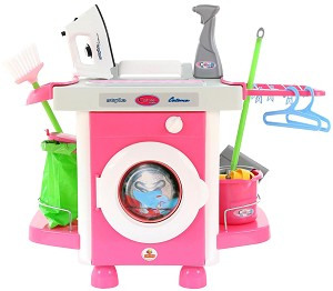 a4cee272f7b store.bg - Детска перална машина - Комплект с аксесоари - 🐻 играчка