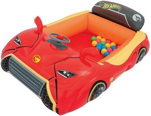 7196041313f store.bg - Надуваема кола - Hot Wheels - Комплект с 25 цветни топки ...
