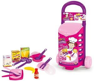 0da2931a84b store.bg - Детски кухненски съдове в количка - Комплект от 18 части ...
