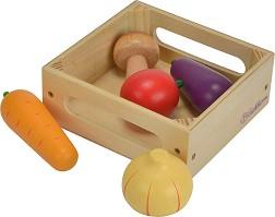 2279c68b233 store.bg - Щайга със зеленчуци - Детски дървен комплект за игра ...