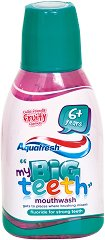 Aquafresh My Big Teeth Mouthwash - Детска вода за уста с флуорид и плодов вкус -