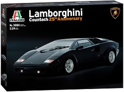 Автомобил - Lamborghini Countach 25th Anniversary - Сглобяем модел -